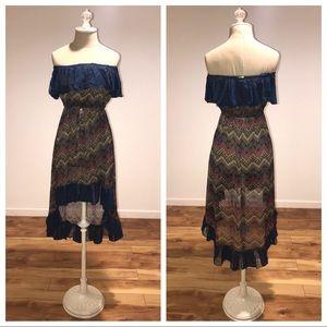 Strapless beach cover dress !